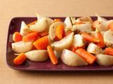 GLAZED CARROTS AND TURNIPS http://www.foodnetwork.com/recipes/food-network-kitchens/glazed-carrots-and-turnips-recipe/index.html