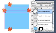 Creating patterns in Photoshop CS2 with vector smart objects