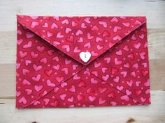 Easy No Sew Fabric Envelope Tutorial…Perfect for Valentines Day - Sew Many Ways...