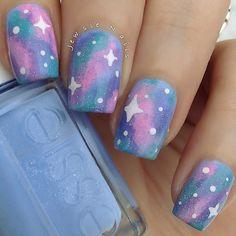 Pastel galaxy nails Instagram media by jewsie_nails  #nail #nails #nailart