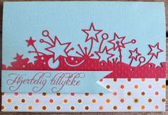 Card with stars