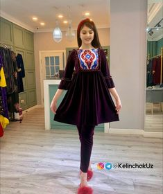 Hijab Fashion, Women's Fashion, Fashion Outfits, Kurta Neck Design, Pakistani Dresses Casual, Girls Dpz, Stylish Dresses, Short Dresses, Velvet