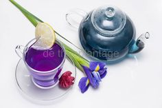 Blue Butterfly Pea Tea ( Blauwe Thee) Butterfly Pea Tea, Blue Butterfly, Infusion Bio, Cute Cups, Tea Strainer, Herbal Tea, Coffee Break, High Tea, Tea Time