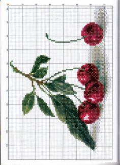 123 Cross Stitch, Cross Stitch Fruit, Cross Stitch Kitchen, Cross Stitch Heart, Cross Stitch Flowers, Cross Stitching, Cross Stitch Embroidery, Embroidery Patterns, Cross Stitch Patterns