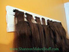 Hair Extension Organizer   Shannon Makes Stuff: {Thrifty Thursday}... Hair Extension Holder