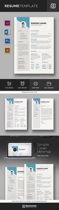 Illustrator Resume Templates Resume  Creative Resume Templates Resume Cv And Letter Size