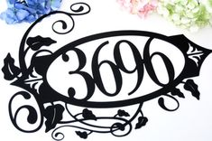 Custom Outdoor House Number Metal Sign - 4 Digit, Black, 18x13, Metal Signs, Sign, Signage, House Signs, Custom Signs, House Number Signs