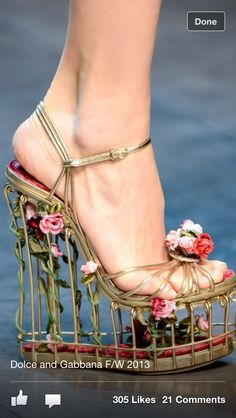 flower cage shoes