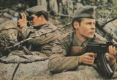 East German soldiers on training.