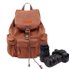 Zebella Waterproof Canvas Backpack Hiking SLR DSLR Camera Bag 32L * Check out this great image  : Backpacking bags