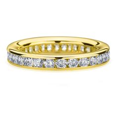Amore 14k or 18k Gold 1 1/2ct TDW Channel Set Diamond Wedding Band (G-H, SI1-SI2) (14k Gold - ), Women's