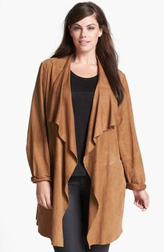a5541aa38ae Eileen Fisher Draped Suede Jacket (Plus Size) available at  Nordstrom Suede  Jacket