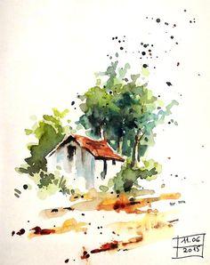 BB-Aquarelle: La petite maison / The little house