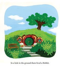 A Little Tolkien Book - The Hobbit (Bag End illustration)