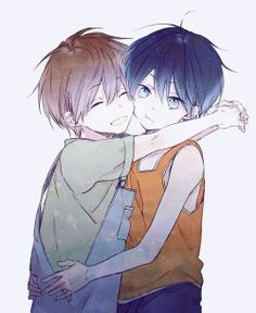 I'm going to explode from the cute.... #Free! #Free! Iwatobi Swim Club #Makoto #Haru  Small cas with someone