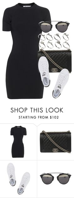 """Style #10007"" by vany-alvarado ❤ liked on Polyvore featuring T By Alexander Wang, Chanel, adidas Originals, Christian Dior and ASOS"