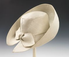 Halston Hat - c. 1965 - Halston (American, - Department Store: Bergdorf Goodman (American, founded - Silk - The Metropolitan Museum of Art - Mlle Turbans, Millinery Hats, Fancy Hats, Wearing A Hat, Hat Boxes, Love Hat, Mode Vintage, Hat Pins, Derby Hats