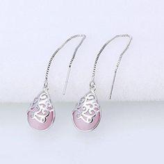 #AdoreWe #Twinkledeals - #TwinkleDeals Waterdrop Faux Gem Chain Earrings - AdoreWe.com
