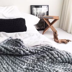 Our charcoal chunky merino throw is made locally in Australia from the finest merino wool. As soft as cotton wool, you will want to wrap this baby around you an