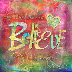 Believe, Art Journal Inspiration, Inspiration Cards, Spiritual Inspiration, Creative Inspiration, Art Journal Pages, Art Journaling, Positive Quotes, Positive Attitude