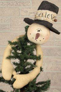 Believe Snowman Tree Topper