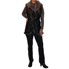 Veste Cuir D Agneau Et Col Raccoon Kaija Tailles disponibles  S, M, L, XL,  XXL, XXXL. 390,00 € 7e1f5f41b302