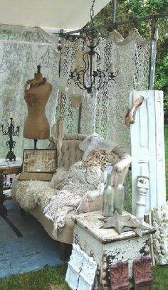 beautiful boho style booth
