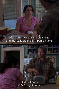 Fuzzy clock!! =D - Gilmore Girls Quotes