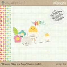 Free Add-On to the Flowers After the Rain Collection (by Wishing Well Creations and Sugarplum Paperie), available in April 2013 to followers of the WWC Facebook Page and/or to subscribers of the WWC newsletter. Links are in this blog post...