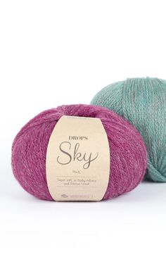 DROPS Sky - Molto morbida e leggera in baby alpaca e lana merino Laine Drops, Merino Wool, Sky, Knitting, Image, Threading, Breien, Heaven, Tricot