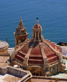 Ta' Liesse Church, Valletta | Malta (by albireo2006)                                                                                                                                                                                      Source:                                                                           travelingcolors