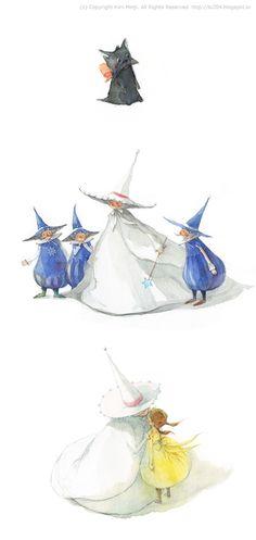 """Kim Min Ji, """"Wizard of Oz"""" illustrations"""