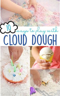Sensory Summer Fun! 10 Easy and Fun Ways to Play with Cloud Dough