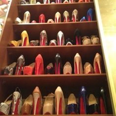 17 Interesting Ideas How To Store Your Shoes, Alternate your shoes you'll be able to fit more in a row