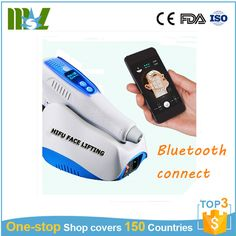 2017 Newest portable mini Wi-Fi hifu facial lifting machine/ bluetooth connect beauty machine