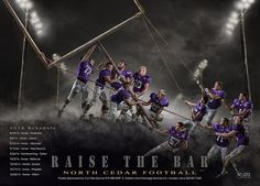 An epic football team poster!  The background is available as a photoshop template at - http://shirkphotography.com/for-photographers/products/sports-templates/.  not available to photographers within 200 miles of our studio
