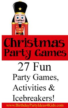 27 Great Christmas themed games, activities and icebreakers!   Fun for all ages!  http://www.birthdaypartyideas4kids.com/christmas-party-games.htm