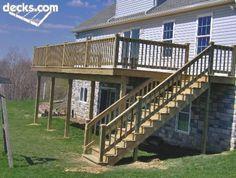 Deck Remodel Ideas, High Elevation Deck Ideas, 2 Story Deck, Landscaping Ideas…