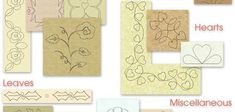 Quiltmaker Collection Vol. 6 includes 575 printable quilt designs most are continuous line