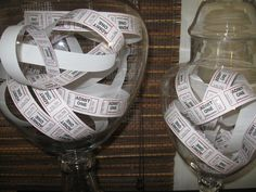 Movie ticket in decorative glass jar Man Party, Movie Party, Big Screen Tv, Birthday Party Themes, Happy Birthday, Movie Themes, Game Room Decor, Movie Tickets, Oscar Party
