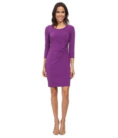 Calvin Klein Calvin Klein  34 Sleeve Side Ruched Dress Passion Womens Dress for 82.99 at Im in!