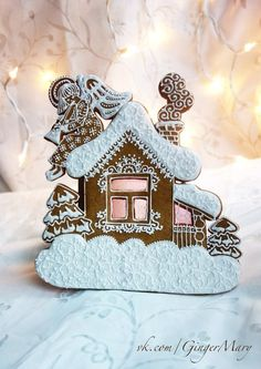 VK is the largest European social network with more than 100 million active users. Gingerbread House Designs, Gingerbread Decorations, Christmas Gingerbread, Gingerbread Cookies, Gingerbread Houses, Christmas Goodies, Christmas Desserts, Christmas Tablescapes, Ice Holiday