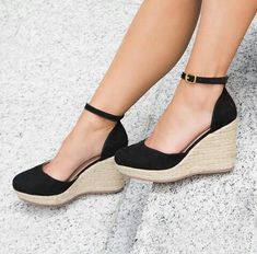 Fly Shoes, Cute Shoes, Me Too Shoes, Wedge Shoes, Shoes Heels, Pretty Sandals, Stylish Sandals, Denim Shoes, Prom Shoes