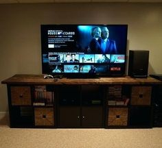 Hottest Images Ikea Hack - Kallax TV Stand with wooden top Concepts The IKEA . Hottest Images Ikea Hack – Kallax TV Stand with wooden top Concepts The IKEA Kallax collection Tv Stand Ikea Hack, Diy Tv Stand, Diy Furniture Upgrade, Wooden Almirah, Corner Tv Stands, Wooden Couch, Ikea Kallax Hack, Swivel Tv Stand, Tv Entertainment Centers