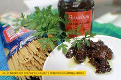 Spaguetti ao óleo e alho negro