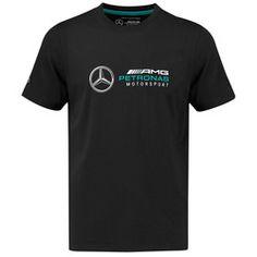 Mercedes AMG Petronas Logo T-Shirt - Black | F1 Mercedez Benz, Amg Petronas, Lamborghini Aventador, Mercedes Amg, Formula One, Grand Prix, F1, German, Adidas