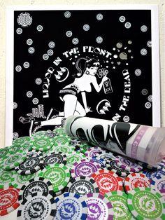 Claw Money poker chips & print set