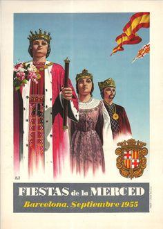 #Cartells #Franquisme #Festes_de_la_Mercè  #Barcelona Barcelona, Balearic Islands, Vintage Travel Posters, Spain, Movie Posters, Celebration, Exhibitions, Poster, Hipster Stuff