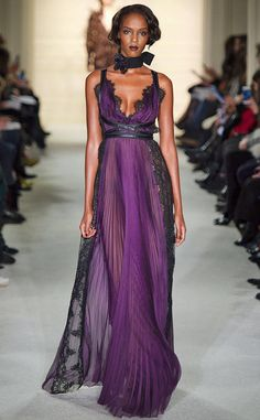 Fall 2015 from Best Red Carpet Gowns Ever, Thanks to Marchesa A dreamy purple dress from the Marchesa Spring 2016 fashion show.
