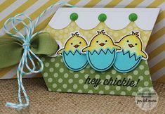 Reverse Confetti Carton Cuties stamp set & coordinating Confetti Cut. Spring card. Easter Card.